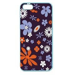 Bright Colorful Busy Large Retro Floral Flowers Pattern Wallpaper Background Apple Seamless Iphone 5 Case (color)