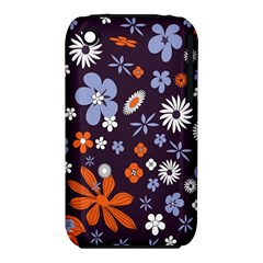 Bright Colorful Busy Large Retro Floral Flowers Pattern Wallpaper Background Iphone 3s/3gs