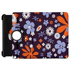 Bright Colorful Busy Large Retro Floral Flowers Pattern Wallpaper Background Kindle Fire Hd 7