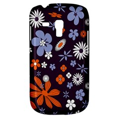 Bright Colorful Busy Large Retro Floral Flowers Pattern Wallpaper Background Galaxy S3 Mini