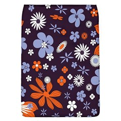 Bright Colorful Busy Large Retro Floral Flowers Pattern Wallpaper Background Flap Covers (L)