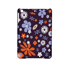 Bright Colorful Busy Large Retro Floral Flowers Pattern Wallpaper Background Ipad Mini 2 Hardshell Cases