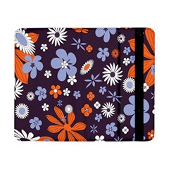 Bright Colorful Busy Large Retro Floral Flowers Pattern Wallpaper Background Samsung Galaxy Tab Pro 8.4  Flip Case