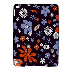 Bright Colorful Busy Large Retro Floral Flowers Pattern Wallpaper Background Ipad Air 2 Hardshell Cases