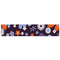 Bright Colorful Busy Large Retro Floral Flowers Pattern Wallpaper Background Flano Scarf (Small)