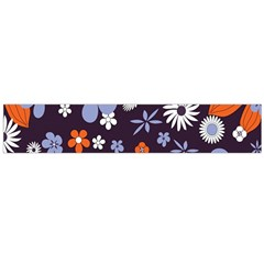 Bright Colorful Busy Large Retro Floral Flowers Pattern Wallpaper Background Flano Scarf (large)