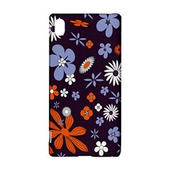 Bright Colorful Busy Large Retro Floral Flowers Pattern Wallpaper Background Sony Xperia Z3+