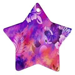 Littie Birdie Abstract Design Artwork Ornament (Star)