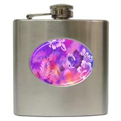 Littie Birdie Abstract Design Artwork Hip Flask (6 oz)