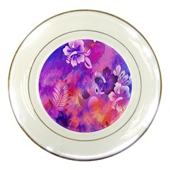 Littie Birdie Abstract Design Artwork Porcelain Plates