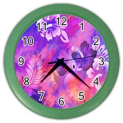 Littie Birdie Abstract Design Artwork Color Wall Clocks