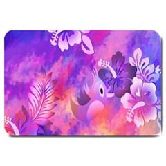 Littie Birdie Abstract Design Artwork Large Doormat