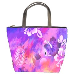 Littie Birdie Abstract Design Artwork Bucket Bags
