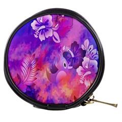 Littie Birdie Abstract Design Artwork Mini Makeup Bags