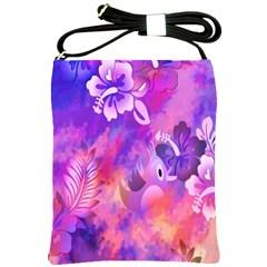 Littie Birdie Abstract Design Artwork Shoulder Sling Bags