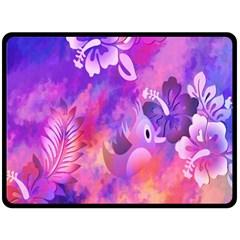Littie Birdie Abstract Design Artwork Fleece Blanket (Large)