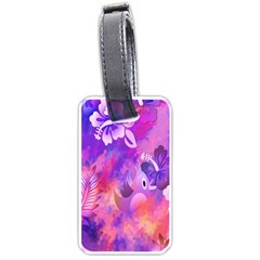 Littie Birdie Abstract Design Artwork Luggage Tags (One Side)