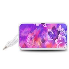 Littie Birdie Abstract Design Artwork Portable Speaker (White)