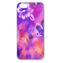 Littie Birdie Abstract Design Artwork Apple Seamless iPhone 5 Case (Clear)