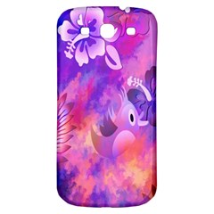 Littie Birdie Abstract Design Artwork Samsung Galaxy S3 S III Classic Hardshell Back Case