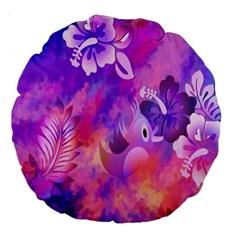 Littie Birdie Abstract Design Artwork Large 18  Premium Round Cushions