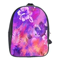 Littie Birdie Abstract Design Artwork School Bags (xl)