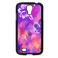 Littie Birdie Abstract Design Artwork Samsung Galaxy S4 I9500/ I9505 Case (black)