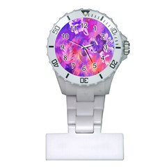 Littie Birdie Abstract Design Artwork Plastic Nurses Watch