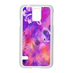 Littie Birdie Abstract Design Artwork Samsung Galaxy S5 Case (White)