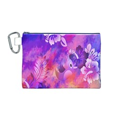 Littie Birdie Abstract Design Artwork Canvas Cosmetic Bag (M)