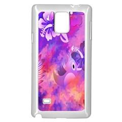 Littie Birdie Abstract Design Artwork Samsung Galaxy Note 4 Case (white)