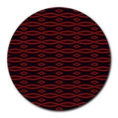 Repeated Tapestry Pattern Abstract Repetition Round Mousepads
