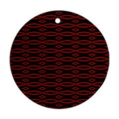 Repeated Tapestry Pattern Abstract Repetition Ornament (Round)