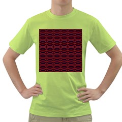 Repeated Tapestry Pattern Abstract Repetition Green T Shirt