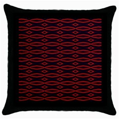 Repeated Tapestry Pattern Abstract Repetition Throw Pillow Case (Black)
