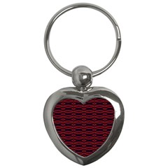 Repeated Tapestry Pattern Abstract Repetition Key Chains (heart)