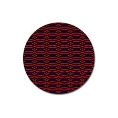 Repeated Tapestry Pattern Abstract Repetition Magnet 3  (round)