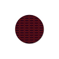 Repeated Tapestry Pattern Abstract Repetition Golf Ball Marker (4 pack)