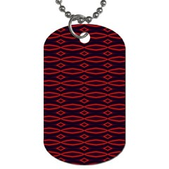 Repeated Tapestry Pattern Abstract Repetition Dog Tag (two Sides)