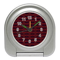 Repeated Tapestry Pattern Abstract Repetition Travel Alarm Clocks