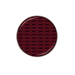 Repeated Tapestry Pattern Abstract Repetition Hat Clip Ball Marker