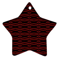 Repeated Tapestry Pattern Abstract Repetition Star Ornament (two Sides)