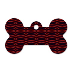 Repeated Tapestry Pattern Abstract Repetition Dog Tag Bone (one Side)