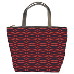 Repeated Tapestry Pattern Abstract Repetition Bucket Bags