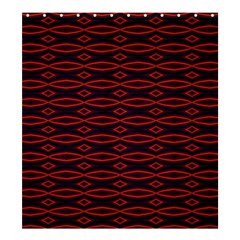 Repeated Tapestry Pattern Abstract Repetition Shower Curtain 66  X 72  (large)