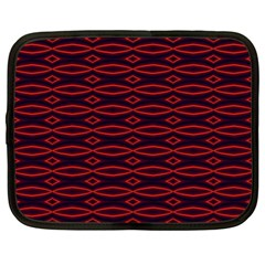 Repeated Tapestry Pattern Abstract Repetition Netbook Case (xl)