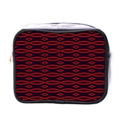 Repeated Tapestry Pattern Abstract Repetition Mini Toiletries Bags