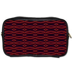 Repeated Tapestry Pattern Abstract Repetition Toiletries Bags 2 Side