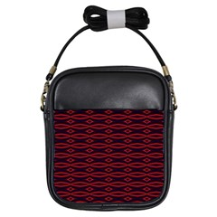 Repeated Tapestry Pattern Abstract Repetition Girls Sling Bags