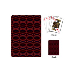 Repeated Tapestry Pattern Abstract Repetition Playing Cards (mini)